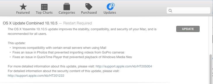 Обновление OS X 10.10.5