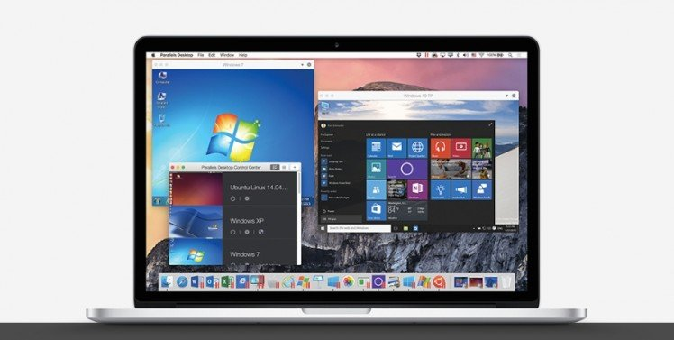 Parallels Desktop 11 на MacBook Pro