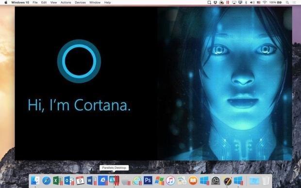 Cortana в Parallels Desktop 11