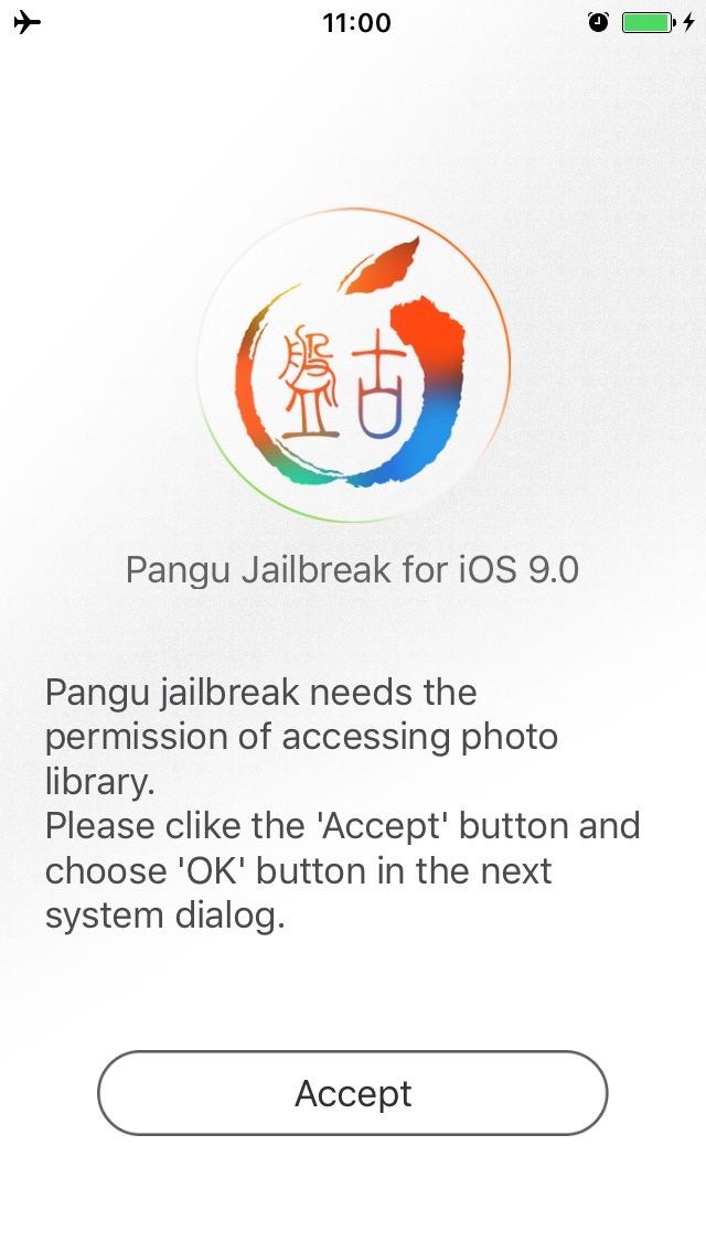 Запуск Pangu 9 на iPhone