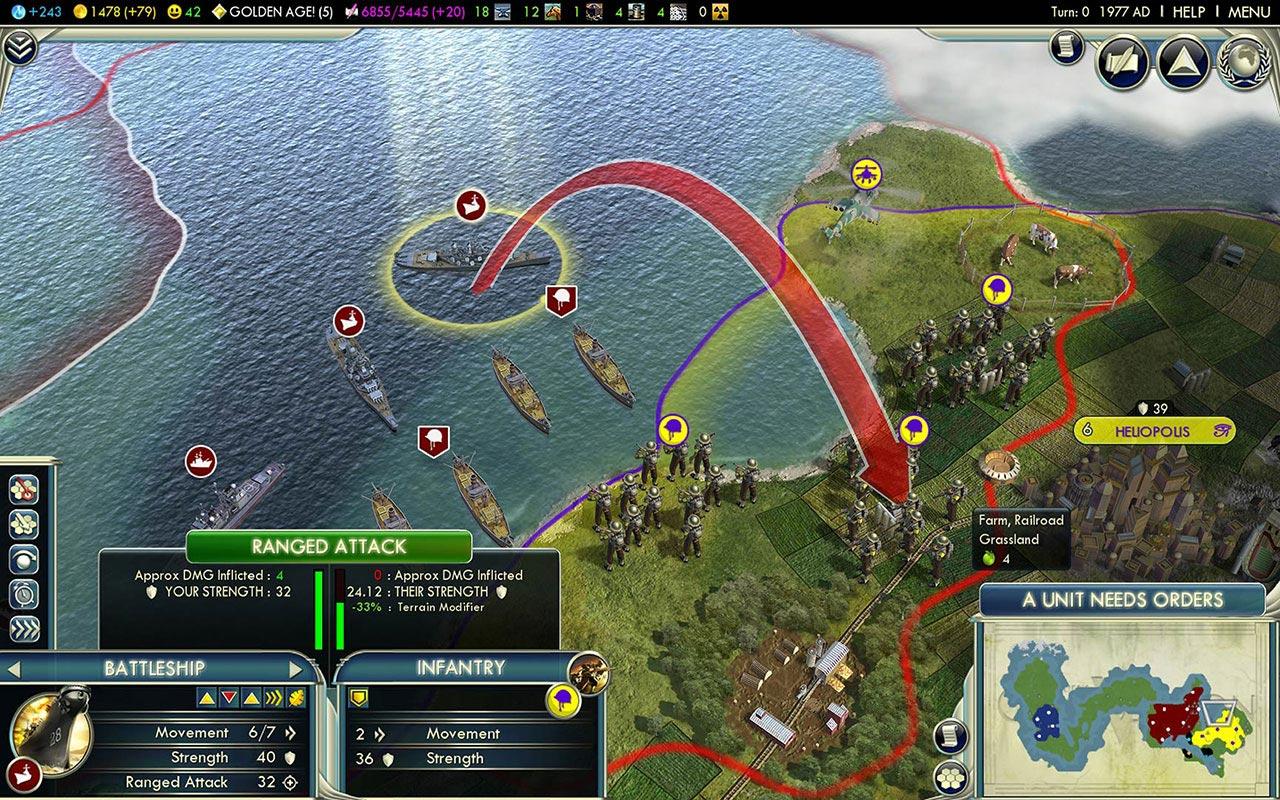 Геймплей Civilization V