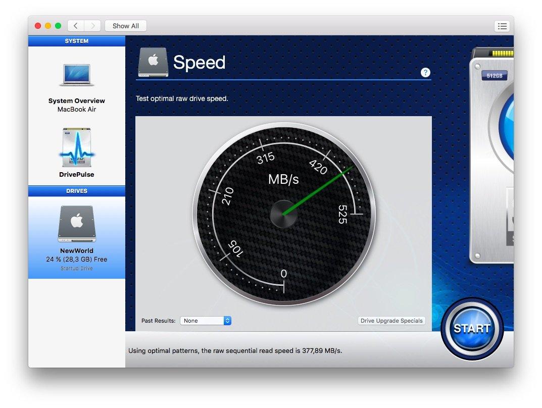 Speedtest в Drive Genius 4