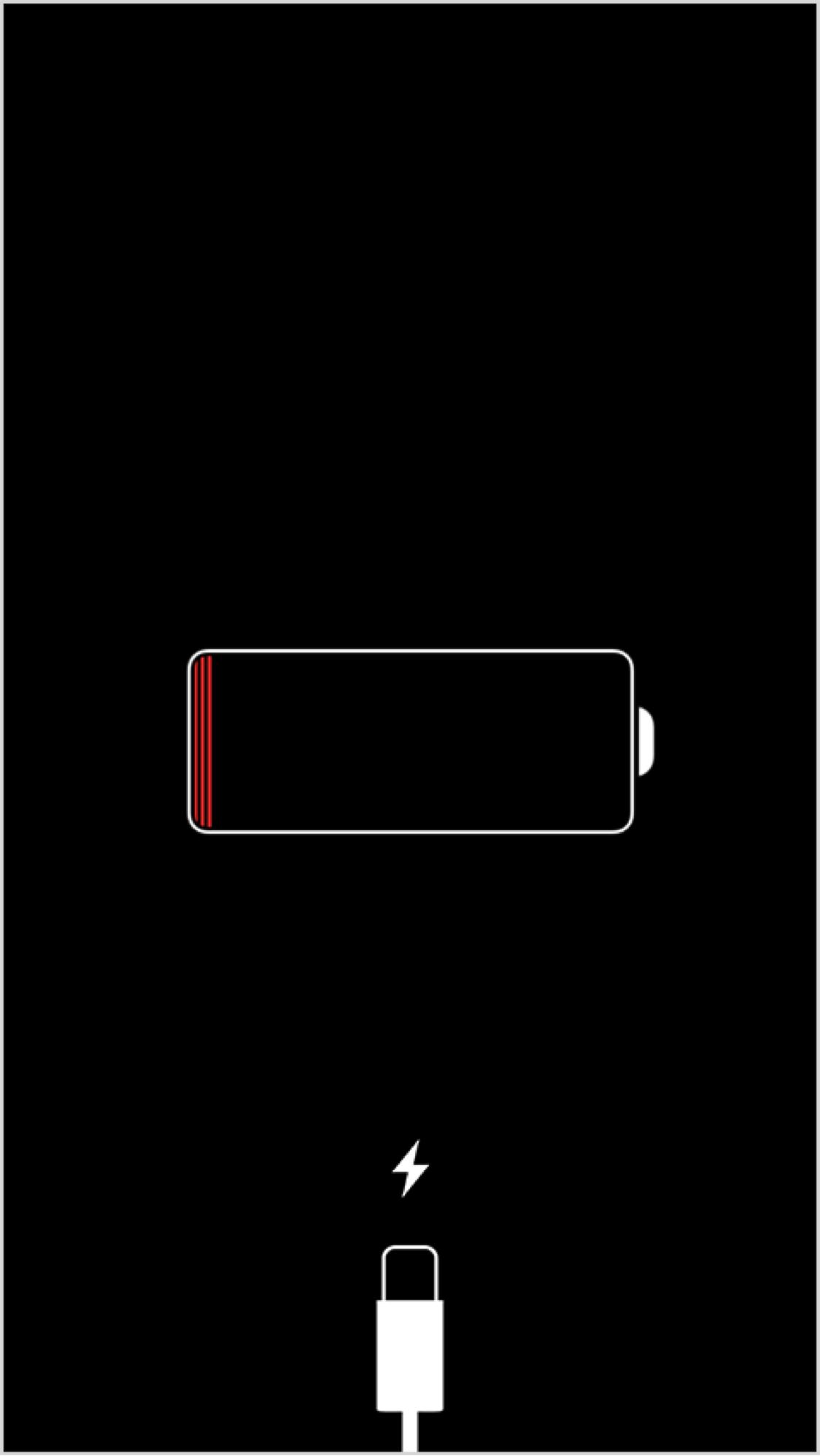 iPhone полностью разряжен
