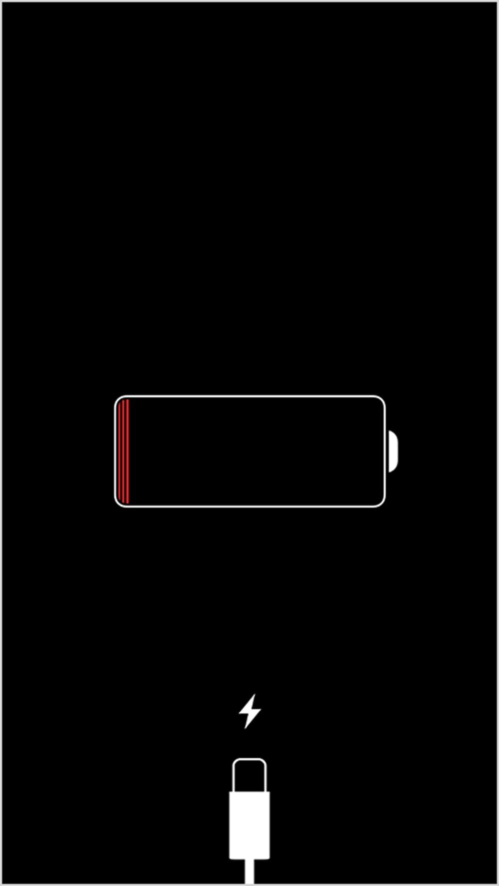Подключите iPhone к источнику питания