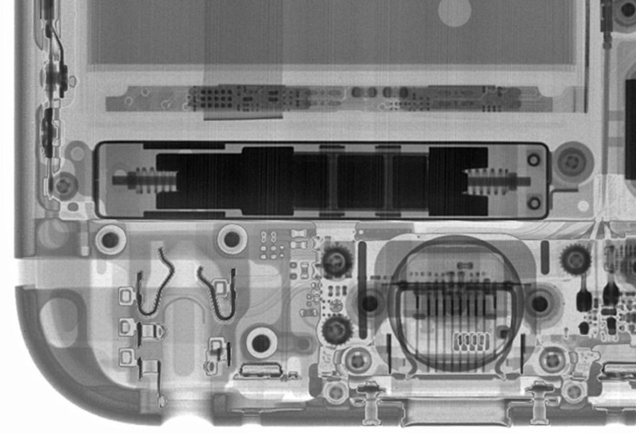 Рентген нижней части iPhone 6s