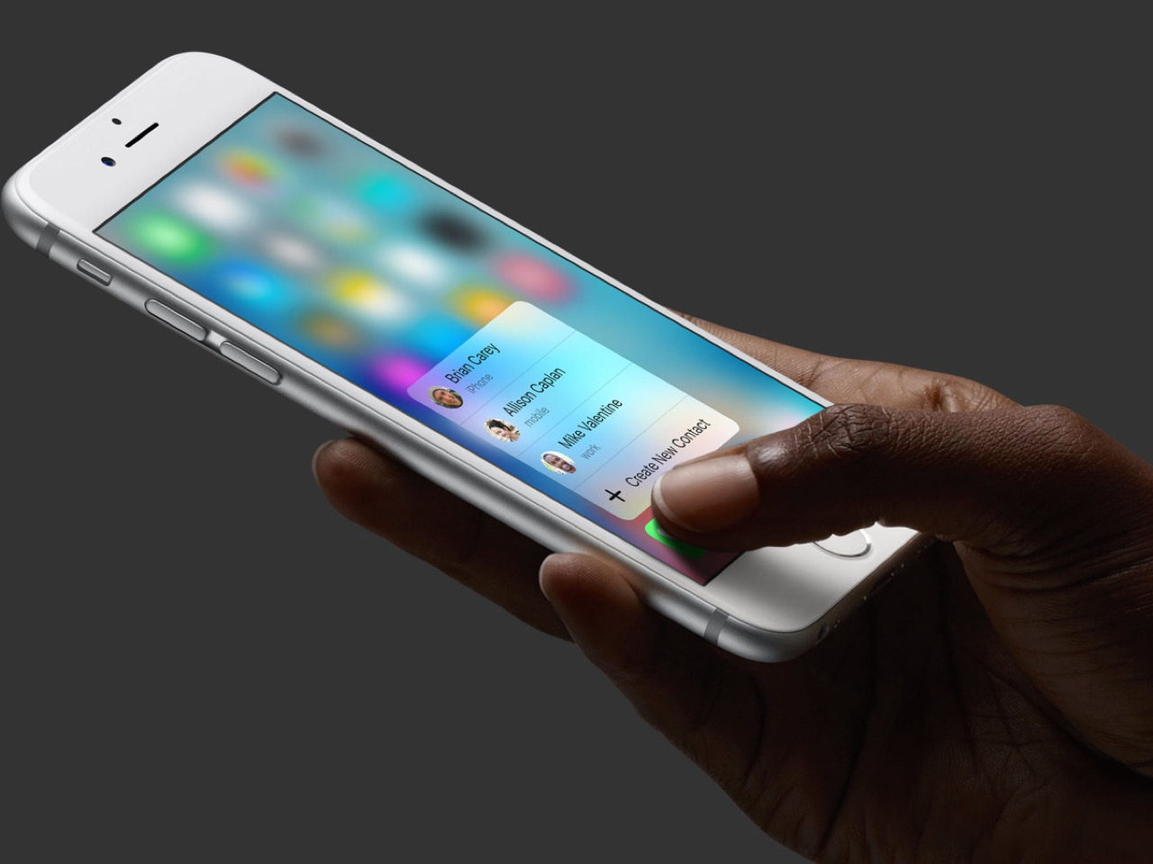 Работа 3D Touch на iPhone 6s