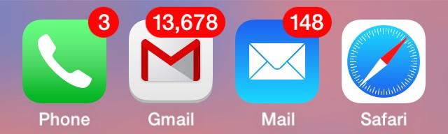 Непрочитанные сообщения на iPhone