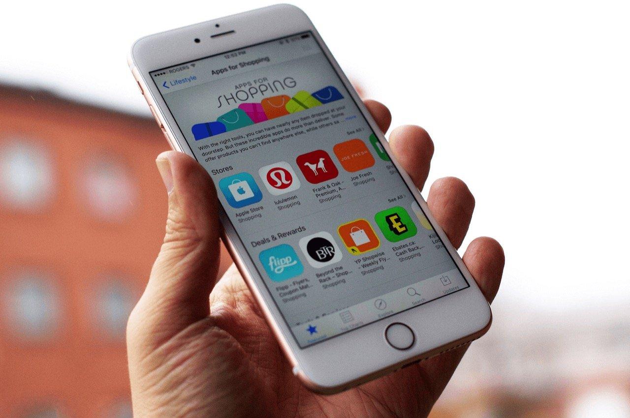 App Store на iPhone 6s