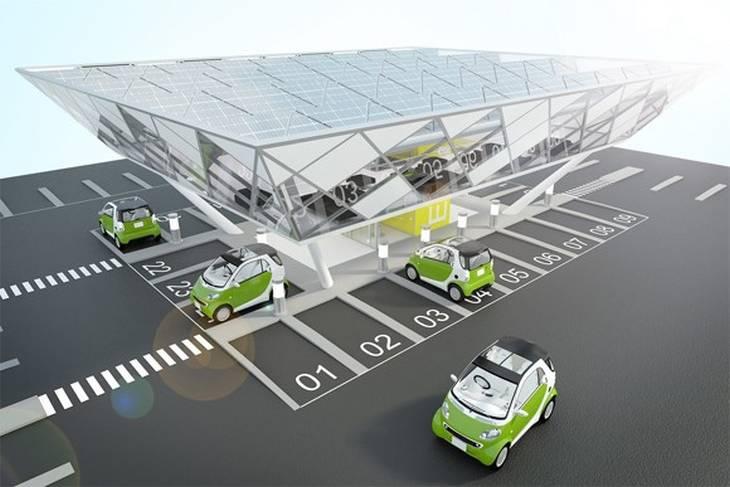 Концепт заправки для электромобилей