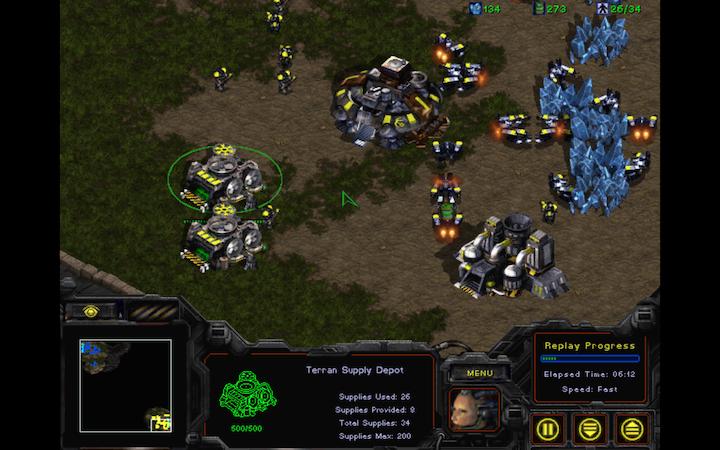 StarCraft: Brood War воспроизведение реплея